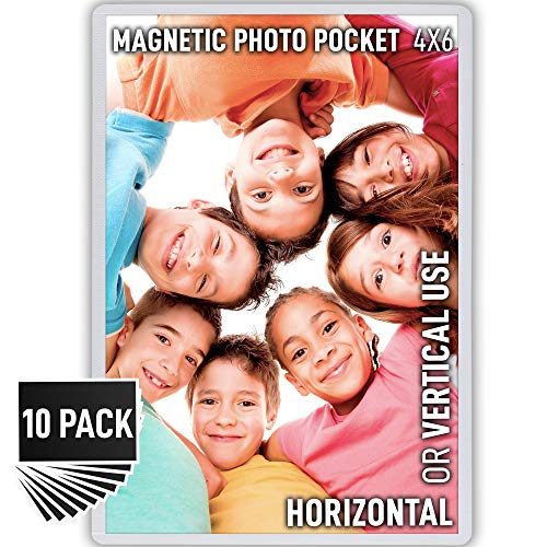 - Magnetic Picture Frames with Strong Flexible Design - 10 Pack Fridge Photo Magnets with Sturdy Magnetic Frame Securely Holds 4x6 Inch Photos - by Zulay Kitchen