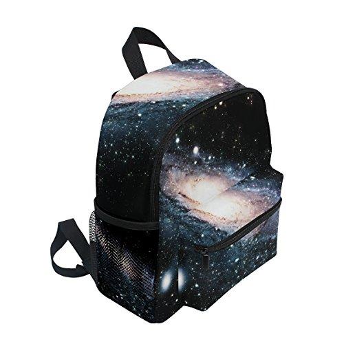 ZZKKO Pre White and Space Girls for Toddler Kindergarten Outer Bag Galaxy Nebula Boy Kids Black Backpack School zHrUWz