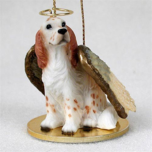 Ky & Co YesKela English Setter Dog Figurine Angel Statue Ornament Orange - English Figurine Dog Setter