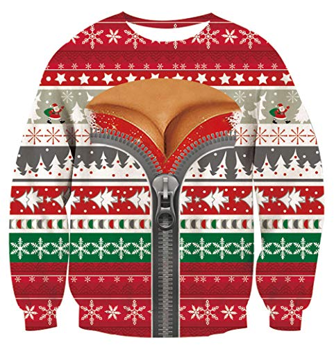 Girl Christmas Sweatershirts 3D Digital Printed Pattern Pullover Snowflake Star Trees White Green Red Adult Casual Hoody Outfits -