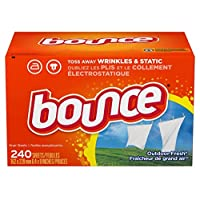 Bounce Fabric Softener and Dryer Sheets, Fresh Fresh, 240 unidades