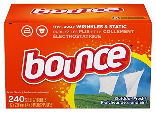 Bounce Fabric Softener and Dryer Sheets, Outdoor Fresh, 240 Count (Best Dryer Sheets For Pet Hair)