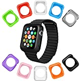 Apple Watch Case La Zuzzi, 10 Soft Covers Apple Watch Sport & Apple Watch, Anti Scratch Protection Cover, Match Colors Your iPhone Case, New in Apple Accessories [Series 2, 42mm]