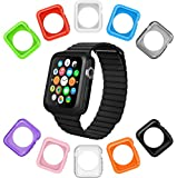 Apple Watch Case by La Zuzzi, 10 Soft Covers, for Apple Watch Sport & Apple Watch, Anti Scratch Protection Cover, Match Colors With Your iPhone Case, New in Apple Accessories [Series 2, 42mm]