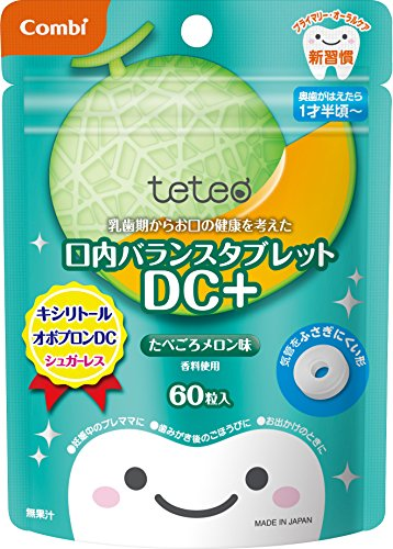 Mouth balance tablet DC + eaten melon taste 60 grain input which considered health of your mouth from Combi Teteo deciduous period