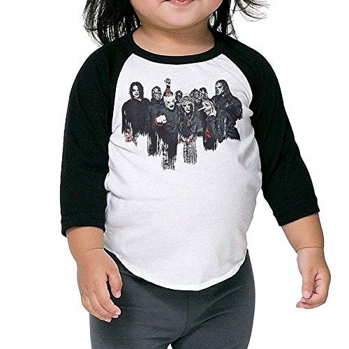 XJBD Kids Boy's&Girl's Slipknot 3/4 Contrast Raglan Sleeve Rib Tee Size 4 Toddler
