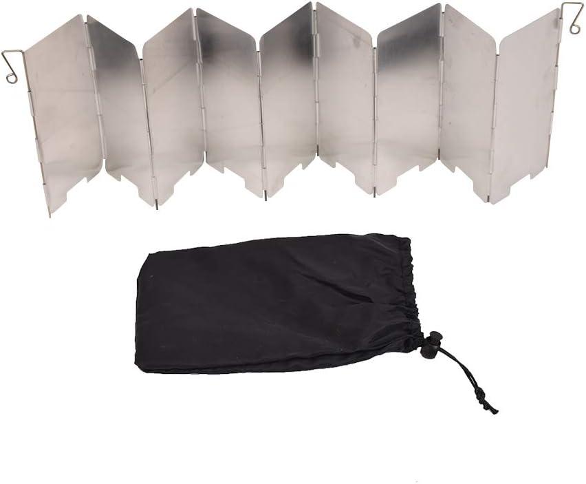 Xiangze - Parabrisas Plegable de Aluminio para hornos, cocinas de Camping y hornillos de Gas, Color Blanco