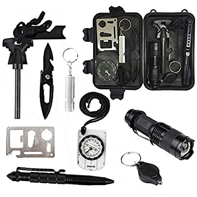 10 in 1 Emergency Survival Kits, Multi Professional Outdoor Survival Tools for Traveling Hiking Camping Biking Climbing Hunting from Knight Pacific Limited