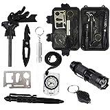 10 in 1 Outdoor Survival Kit,Emergency Multi-purpose Professional Gear Kit ...