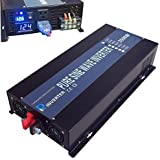 WZRELB Reliable 3500W High Frequency LED Display 24V 120V Off Grid DC To AC Voltage Converter Home Power Supply True Pure Sine Wave Solar Power Inverter(Black)