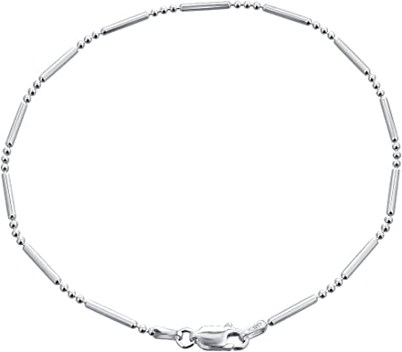 Lobster Claw 925 Sterling Silver Lobster Claw Closure Snake Anklet 9 Inch