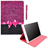 ZeWoo Folio PU Leather Case - K036 / Pink tie + Leopard - for Samsung Galaxy Note 10.1 GT-N8000 GT-N8010 (2012 Edition) Tablet PC Cover