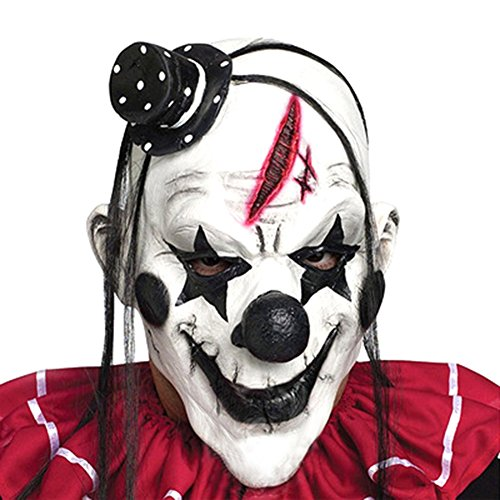 Provone Happy Halloween Series Scary Clown Mask Horror Masquerade Party Costumes Props H03