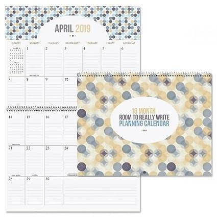 Amazon Com 2019 Room To Write Big Grid 16 Month Planning Calendar
