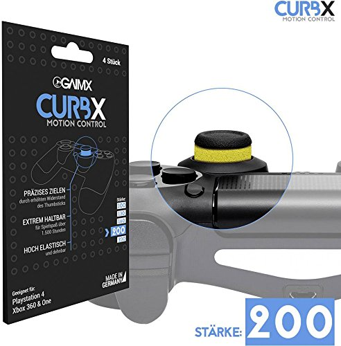GAIMX Curbx Motion Control 200-Target and Bumper TPU Thumb Stick/Stick 200FPS & 3rd Person Shooter-for Playstation 4PS4and Xbox One/360 by GAIMX