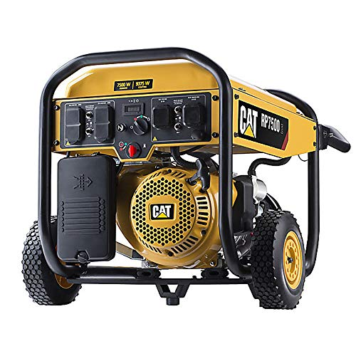 Cat RP7500E Gas Powered Portable Generator with Electric Start - 7500 Running Watts/9375 Starting Watts CARB Compliant 502-3690