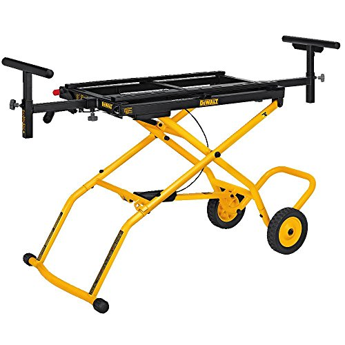 (DEWALT Miter Saw Stand With Wheels (DWX726), Yellow)