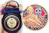 i am a seal warrior - Mayflower CNF Coin &Leather Holder - U.S Army 82nd Airborne Division, America's Guard of Honor, D Day. Honoring Those Who Serve - Freedom is Not Free