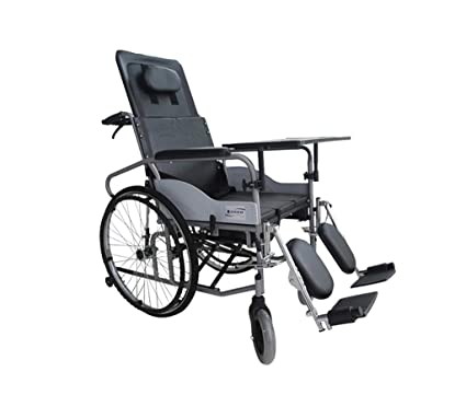 LYX® Plegado de una silla de ruedas, silla de ruedas manual Completamente liviana Carretilla