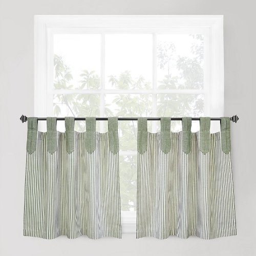 Ticking Stripe Panel (Park B. Smith Café Curtain (Ticking Stripe) - 60