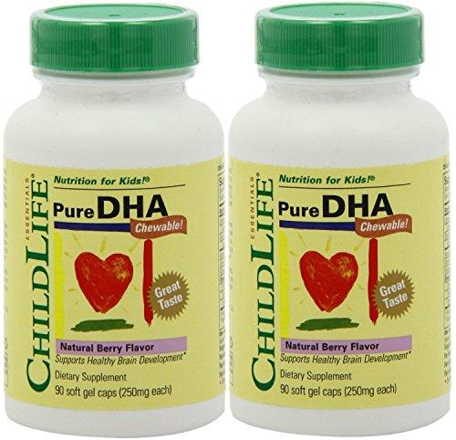 Child Life Pure DHA Soft Gel Capsules (180 Capsules) - 2pk