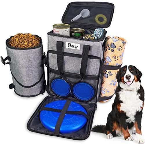Dog Travel Bag-Airline Approved, Dog Travel Bag for Supplies- Travel Bag for Dogs, Dog Supplies Bags Includes 2…