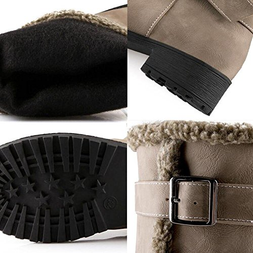 invierno 36 altas YELLOW de black Moda 36 Scrub mujer espesamiento NSXZ botas qTgwSttZ