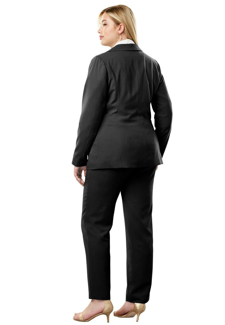 Jessica London Women's Plus Size Single Breasted Pant Suit Navy,22 W by Jessica London (Image #3)