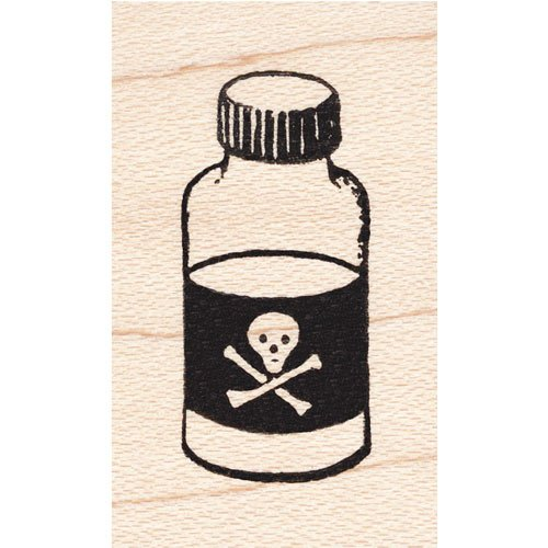 Poison Bottle Potion Rubber Stamp]()