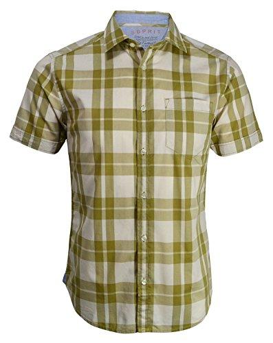 ESPRIT Herren Freizeit-Hemd, Kariert beige beige One size