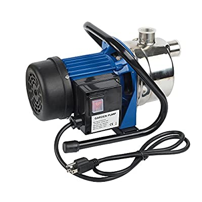 EXTRAUP 1HP Stainless Steel Electronic Portable Shallow Well Pump Booster Pump Lawn Sprinkling Pump Home Garden Water Pump