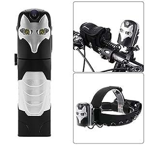 XCSOURCE Silver Fox 1080P HD Bike Video Recorder 5MP Camera + 6000K Dual LED Headlamp / 800LM Bicycle Light + 5200mAh Power Bank XC310