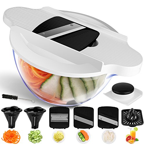 Vegetable Chopper Mandoline Slicer Dicer, Newly Improved Onion Chopper Heavy Duty All in One Vegetable Fruit Cuber Chopper Multi Blades Kitchen Food Cutter (Black)