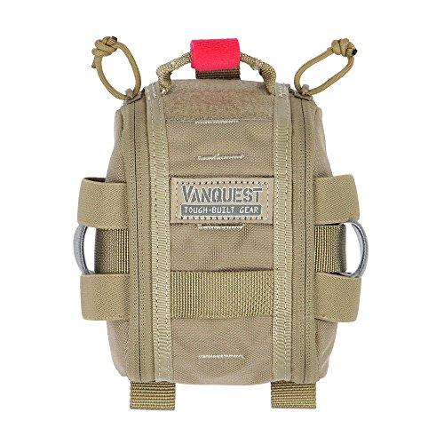 VANQUEST FATPack 4x6 (Gen-2) First Aid Trauma Pack (Coyote Tan) - Velcro Tourniquet