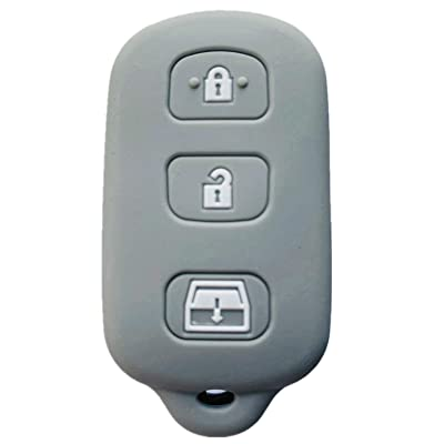 Rpkey Silicone Keyless Entry Remote Control Key Fob Cover Case protector For 1999-2009 Toyota 4Runner 2001-2008 Toyota Sequoia HYQ12BBX HYQ12BAN HYQ1512Y(gray): Automotive