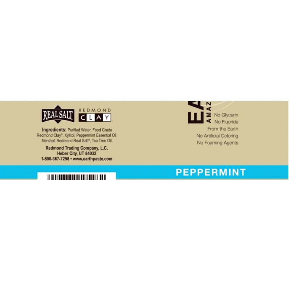Redmond Earthpaste - Natural Non-Fluoride Toothpaste- Peppermint (2 pack- 2 x 4 Ounce Tube) by REDMOND (Image #3)