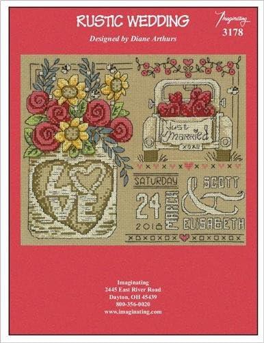 Cross Stitch Chart and Free Embellishment Chart 3178 Rustic Wedding