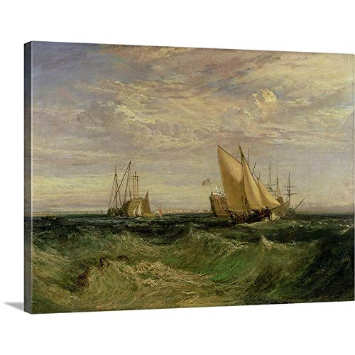 GREATBIGCANVAS Gallery-Wrapped Canvas Entitled The Confluence of The Thames and The Medway, c.1808 by Joseph (1775-1851) Turner 40