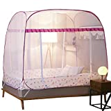 HEXbaby Mosquito Net Tent for Double Beds Foldable with Full Bottom,195150160cm
