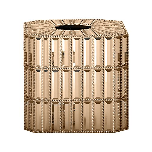 nu steel Glitz Gold Boutique Tissue by The Tatara Group (Resin Boutique Tissue Box)