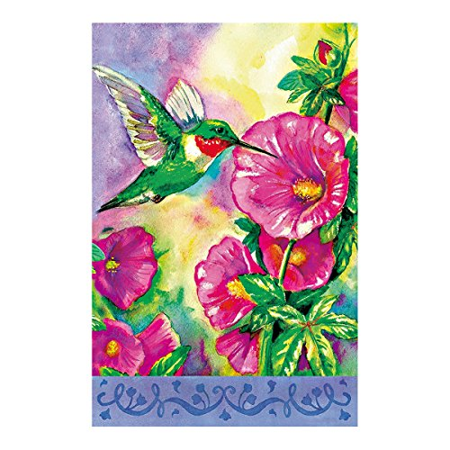 Decorative Custom Flag Hummingbird Is Sucking Nectar From The Morning Glory Outdoors Flags Of Double Sided Waterproof And Fade Resistant Printed banners 12.5 X 18 Inch 100% - Nectar Atlanta