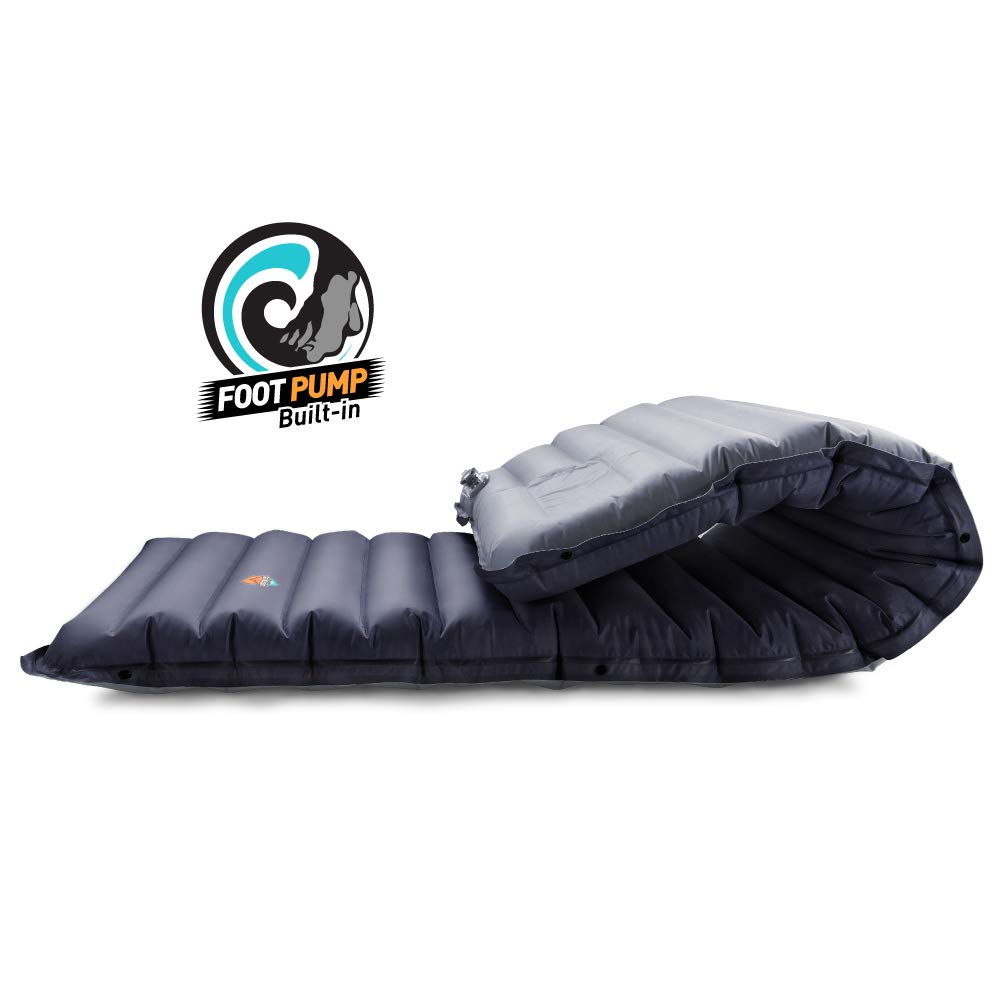 ZOOOBELIVES Extra Thickness Inflatable Sleeping Pad with Built-in Pump, Most Comfortable Camping Mattress for Backpacking, Car Traveling and Hiking, Compact and Lightweight - Airlive2000 by ZOOOBELIVES