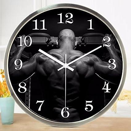 Amazon com: Wall Clock WuuLii Decor-The Large Gym Exercise