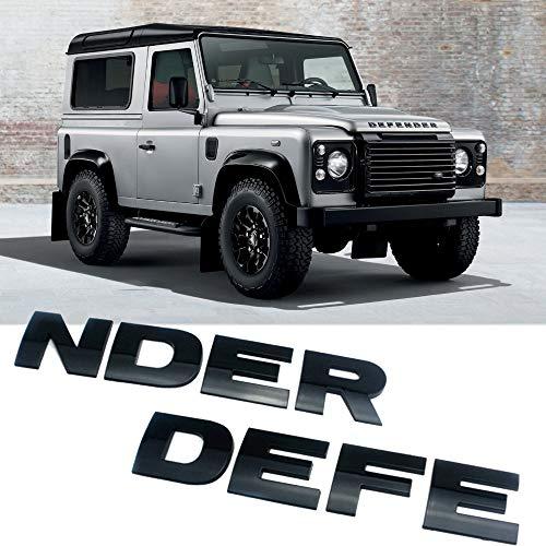 1Set 3D Emblem Lettering Sticker Car Accessories For Land Rover Defender Front Bonnet Emblem Logo Badge Lettering Sticker (Matte silver)