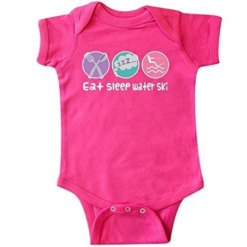 inktastic Water Skiing Eat Sleep Water Ski Infant Creeper 24 Months Hot Pink