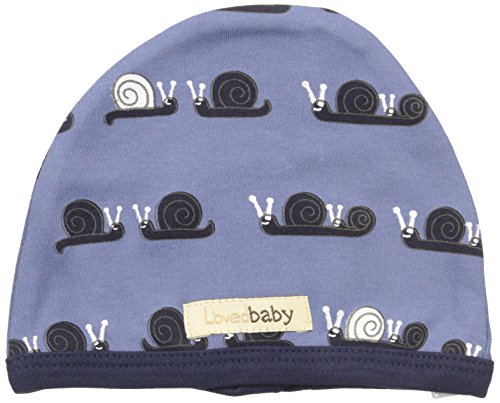 L'ovedbaby Baby Organic Cotton Hat, Navy Snails, 6-12 Months