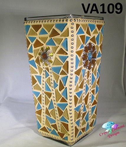 Southwest Beauty Glass Mosaic Vasehandmade By The Artist Va109