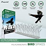 Why choose Aspectek Polycarbonate spikes?  Prevent birds from nesting and destructing your property with Aspectek Plastic Spikes. This is a non-harmful, easily applicable and highly effective method of bird repellent that is 100% effective wh...