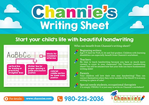 Workbook customizable handwriting worksheets : Amazon.com : 2 PAK! save cost on shipping! Channie's Visual ...