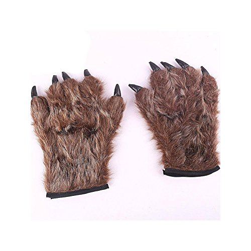 Utosi Halloween Cosplay Costume Werewolf Gloves Furry Gloves Halloween Horror (Furry Costumes Wolf)